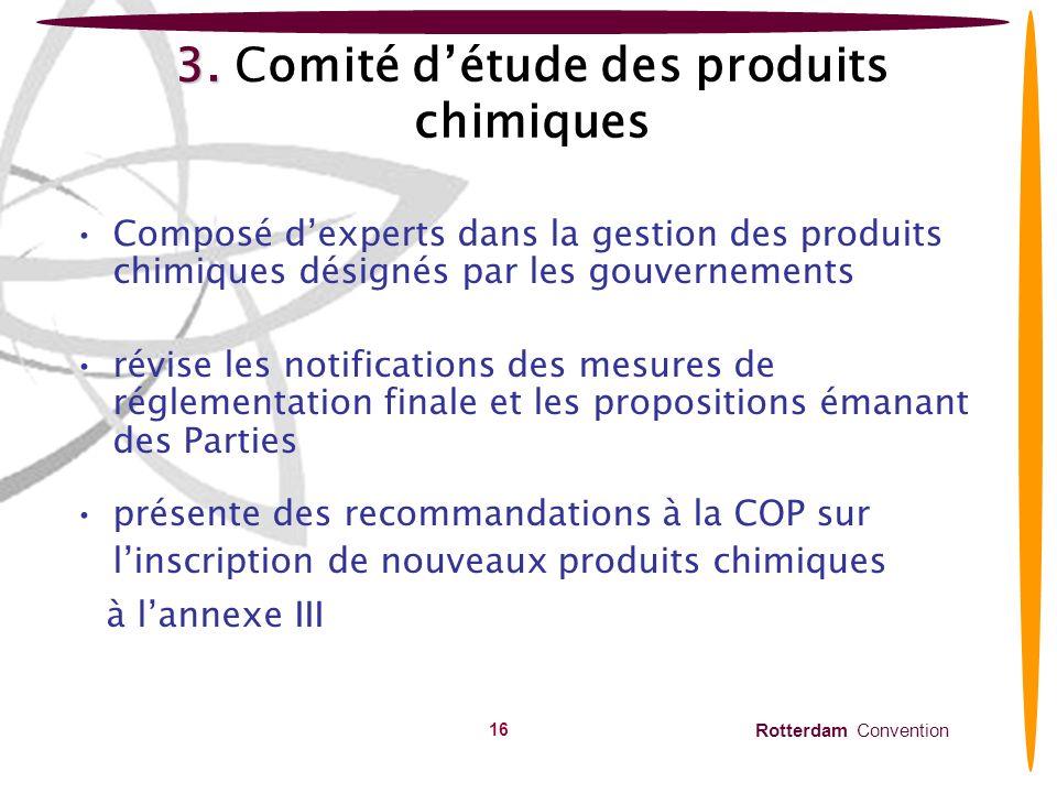 3. Comité d'étude des produits chimiques