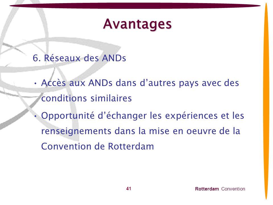 Avantages 6. Réseaux des ANDs