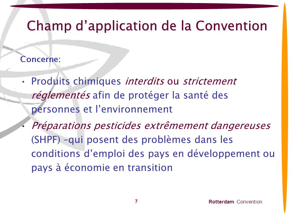 Champ d'application de la Convention