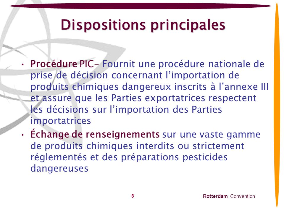 Dispositions principales