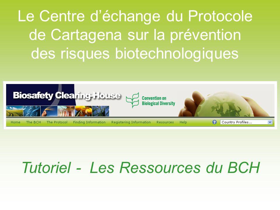 Tutoriel - Les Ressources du BCH