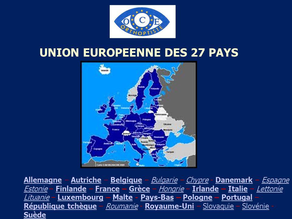 UNION EUROPEENNE DES 27 PAYS