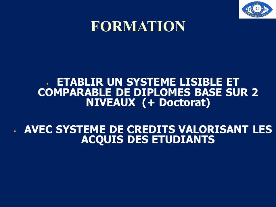 AVEC SYSTEME DE CREDITS VALORISANT LES ACQUIS DES ETUDIANTS