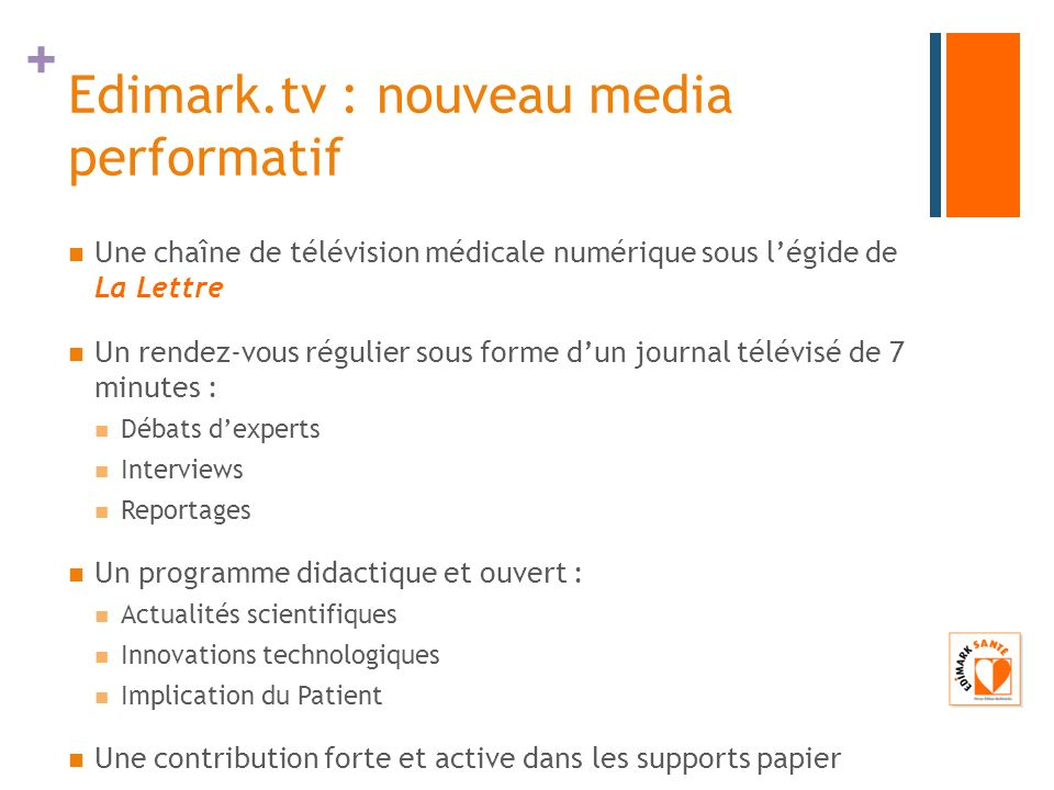 Edimark.tv : nouveau media performatif