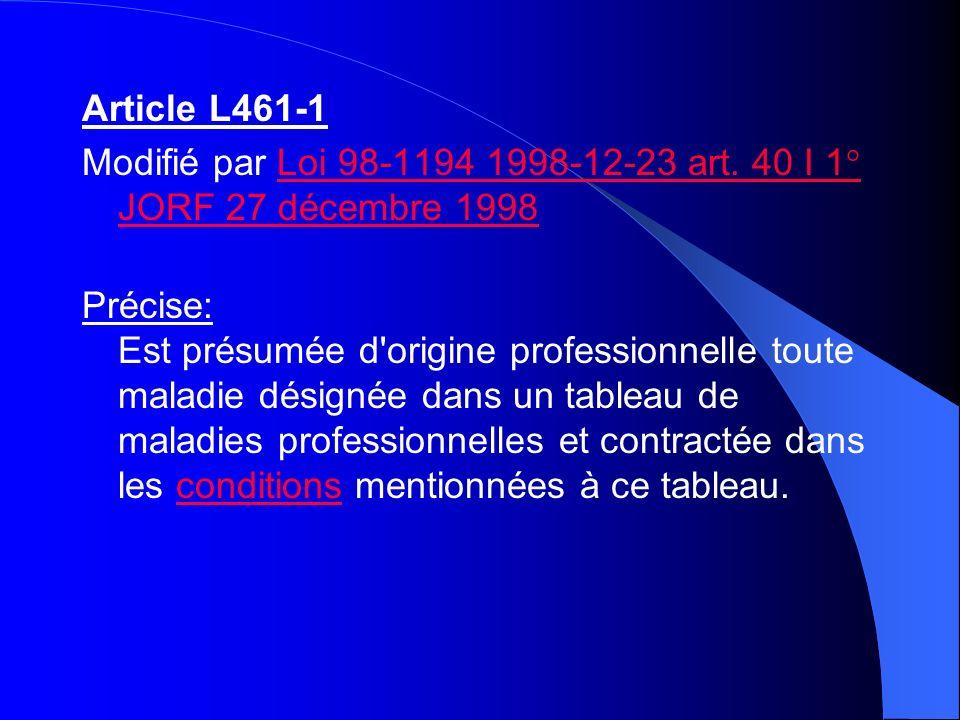 Article L461-1Modifié par Loi 98-1194 1998-12-23 art. 40 I 1° JORF 27 décembre 1998.