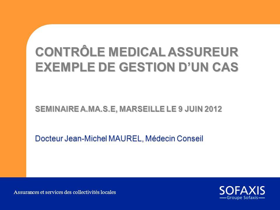 Docteur Jean-Michel MAUREL, Médecin Conseil