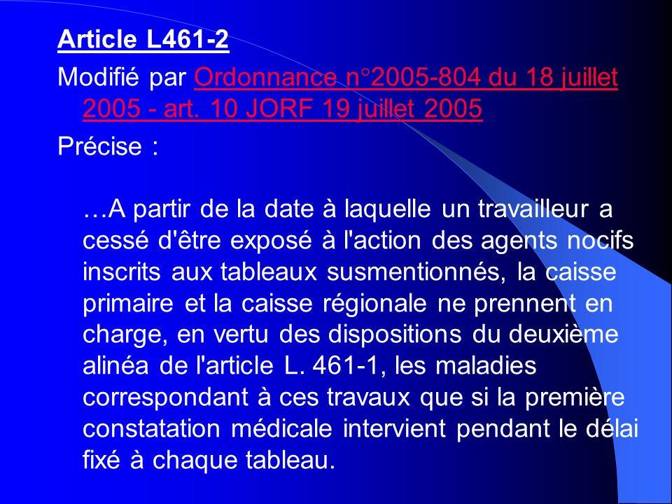 Article L461-2Modifié par Ordonnance n°2005-804 du 18 juillet 2005 - art. 10 JORF 19 juillet 2005.