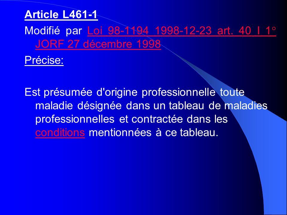 Article L461-1 Modifié par Loi 98-1194 1998-12-23 art. 40 I 1° JORF 27 décembre 1998. Précise: