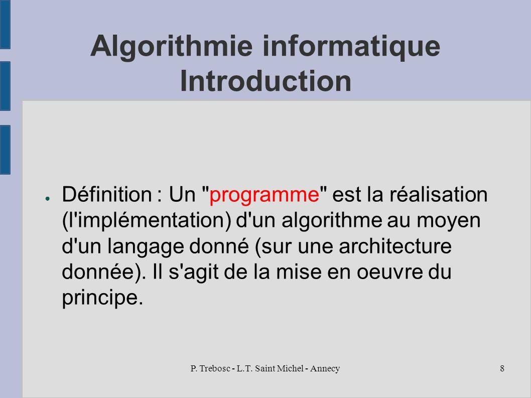 Introduction aux algorithmes informatiques ppt t l charger for Architecture informatique definition