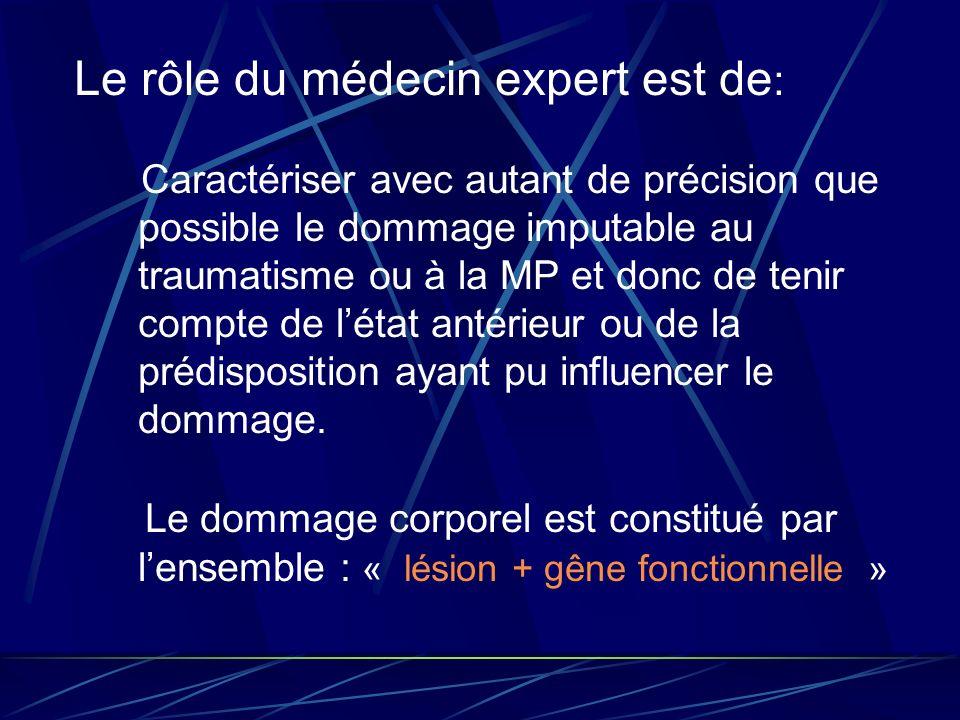 Le rôle du médecin expert est de: