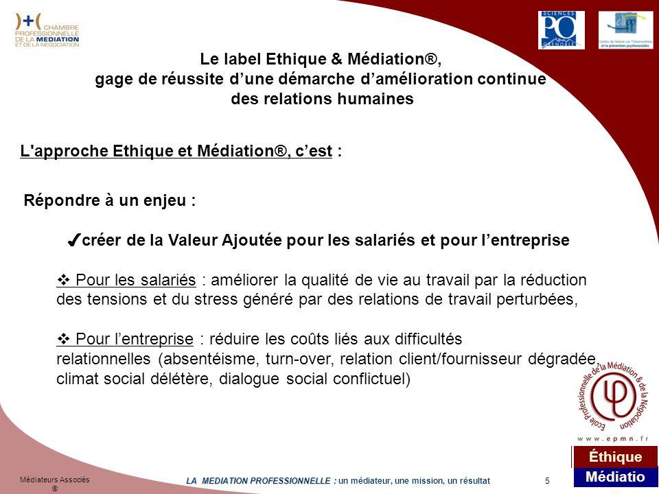 Le label Ethique & Médiation®,