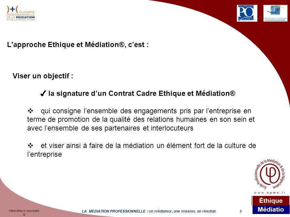L approche Ethique et Médiation®, c'est :