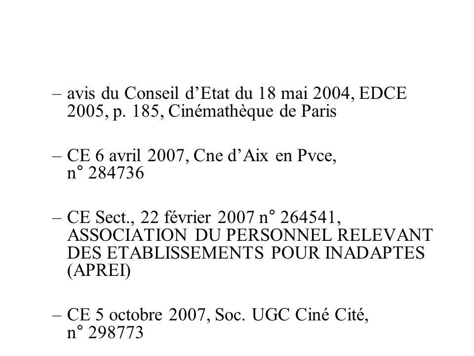 avis du Conseil d'Etat du 18 mai 2004, EDCE 2005, p