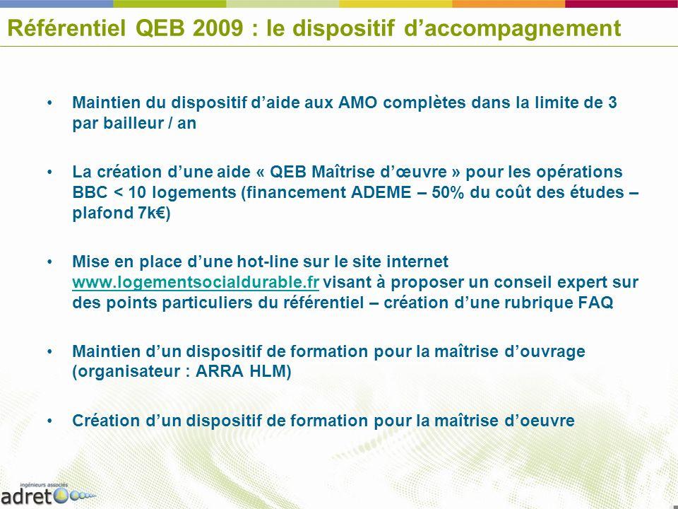 Référentiel QEB 2009 : le dispositif d'accompagnement