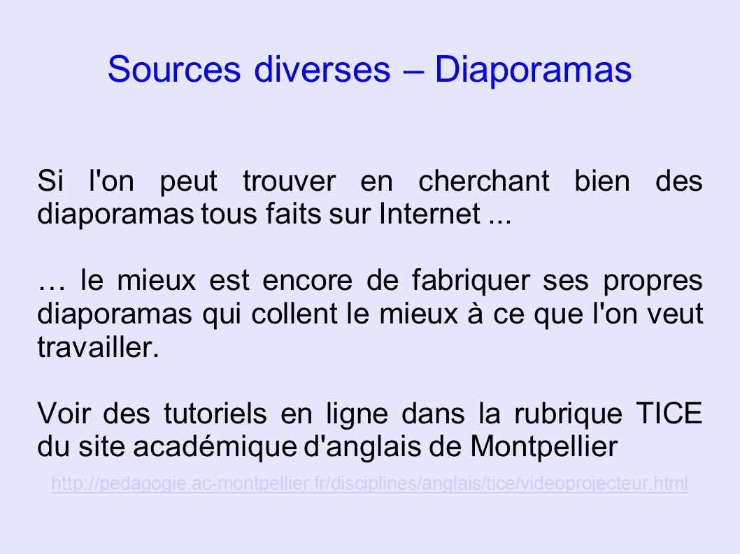 Sources diverses – Diaporamas