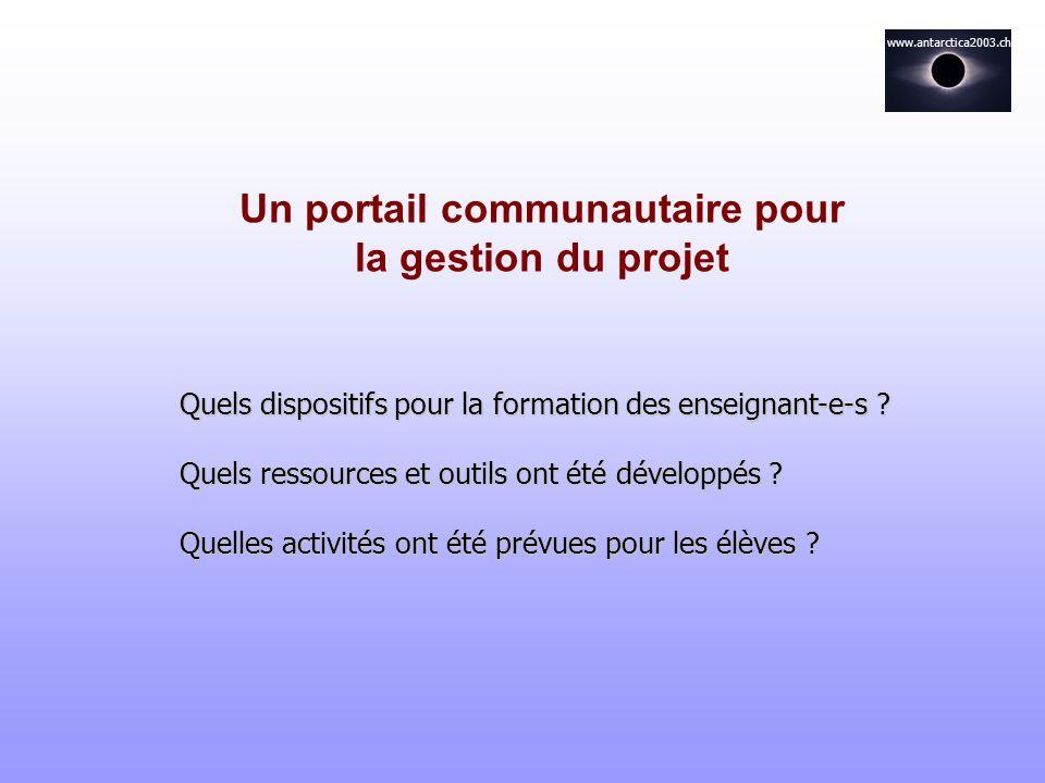 Un portail communautaire pour la gestion du projet