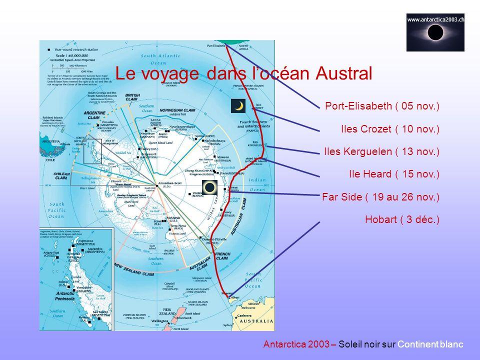 Le voyage dans l'océan Austral