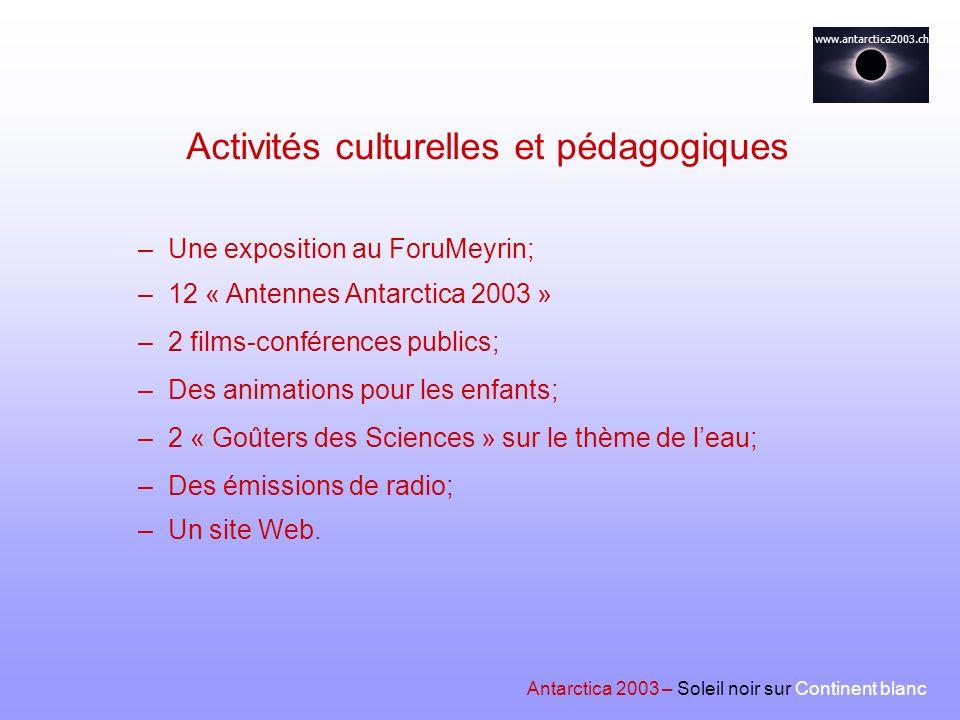 Activités culturelles et pédagogiques