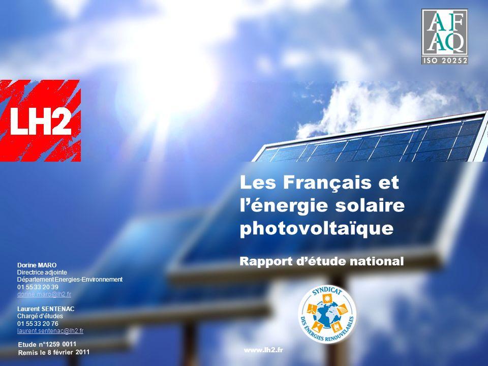 Les Français et l'énergie solaire photovoltaïque Rapport d'étude national