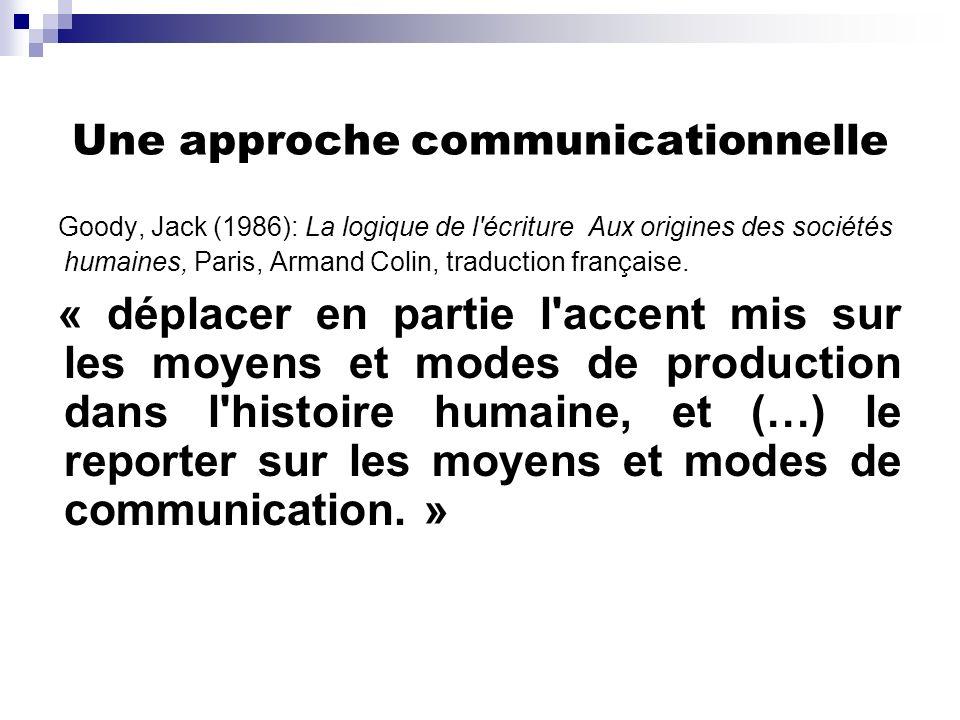 Une approche communicationnelle