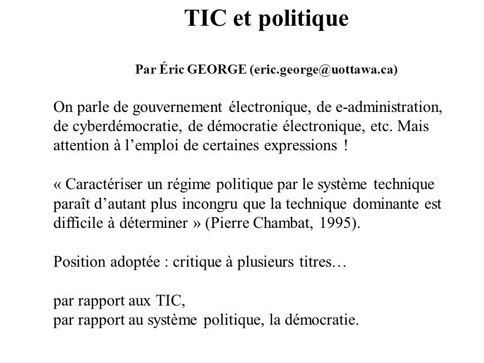 Par Éric GEORGE (eric.george@uottawa.ca)