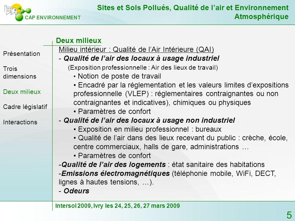 Milieu intérieur : Qualité de l'Air Intérieure (QAI)