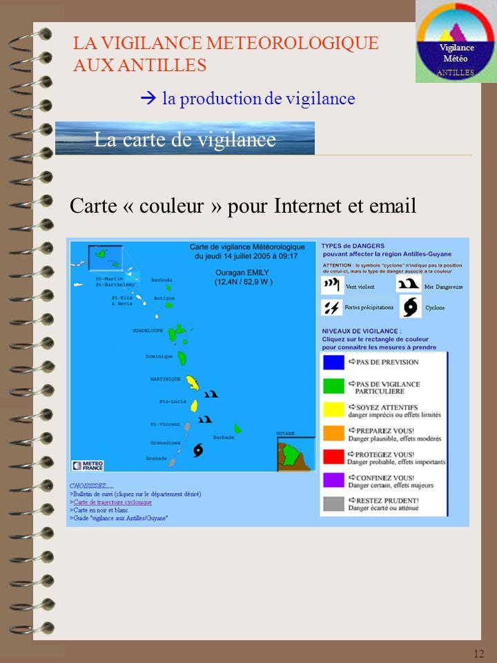 Carte « couleur » pour Internet et email