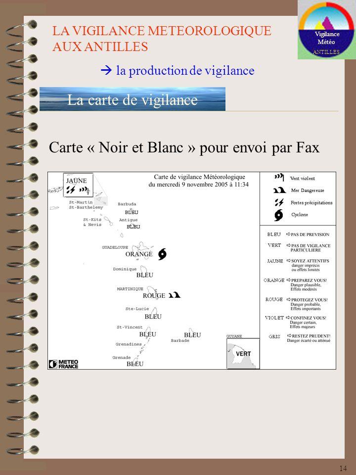 Carte « Noir et Blanc » pour envoi par Fax