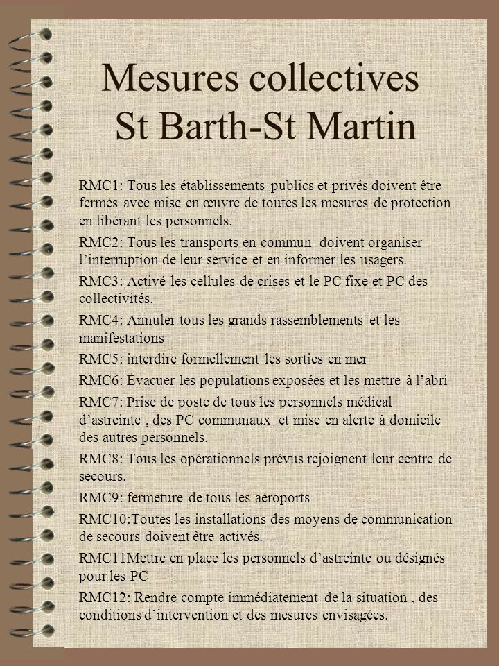 Mesures collectives St Barth-St Martin
