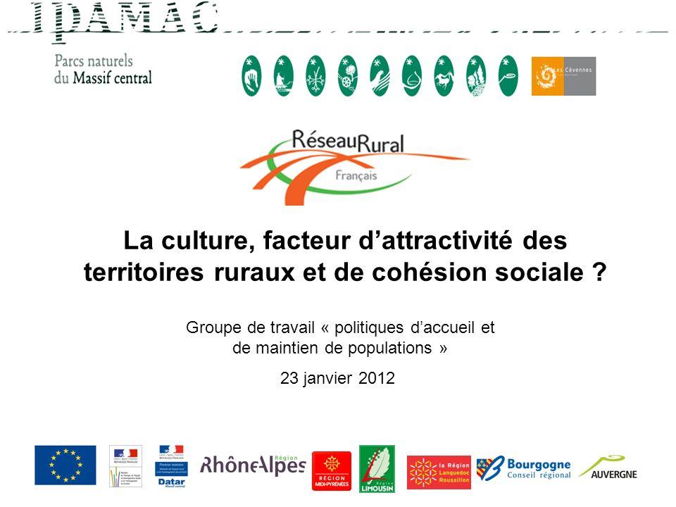 La culture, facteur d'attractivité des territoires ruraux et de cohésion sociale