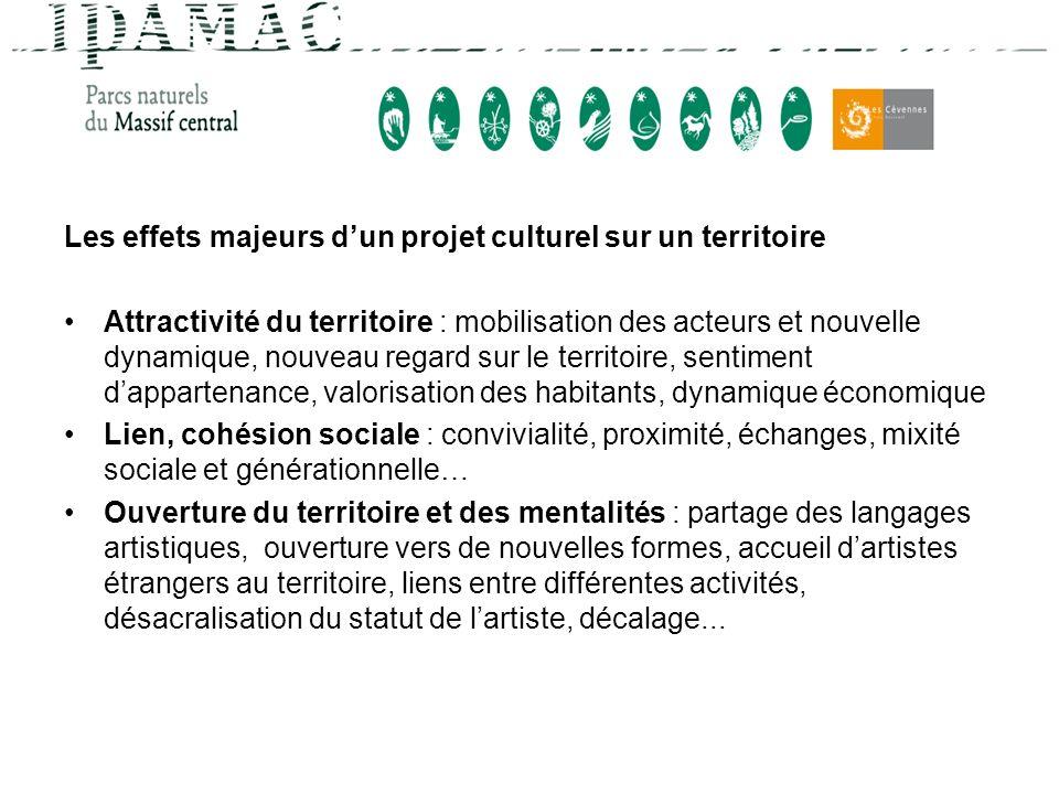 Les effets majeurs d'un projet culturel sur un territoire