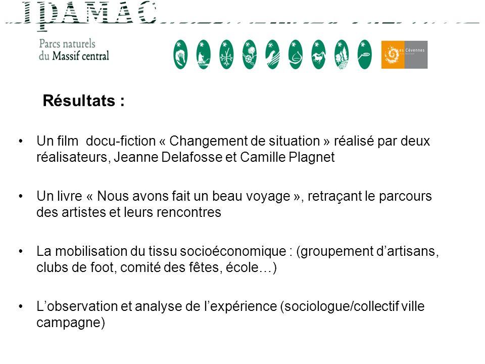 Résultats : Un film docu-fiction « Changement de situation » réalisé par deux réalisateurs, Jeanne Delafosse et Camille Plagnet.