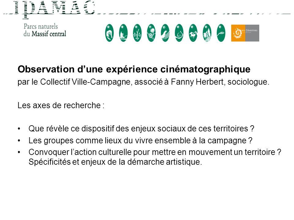 Observation d'une expérience cinématographique