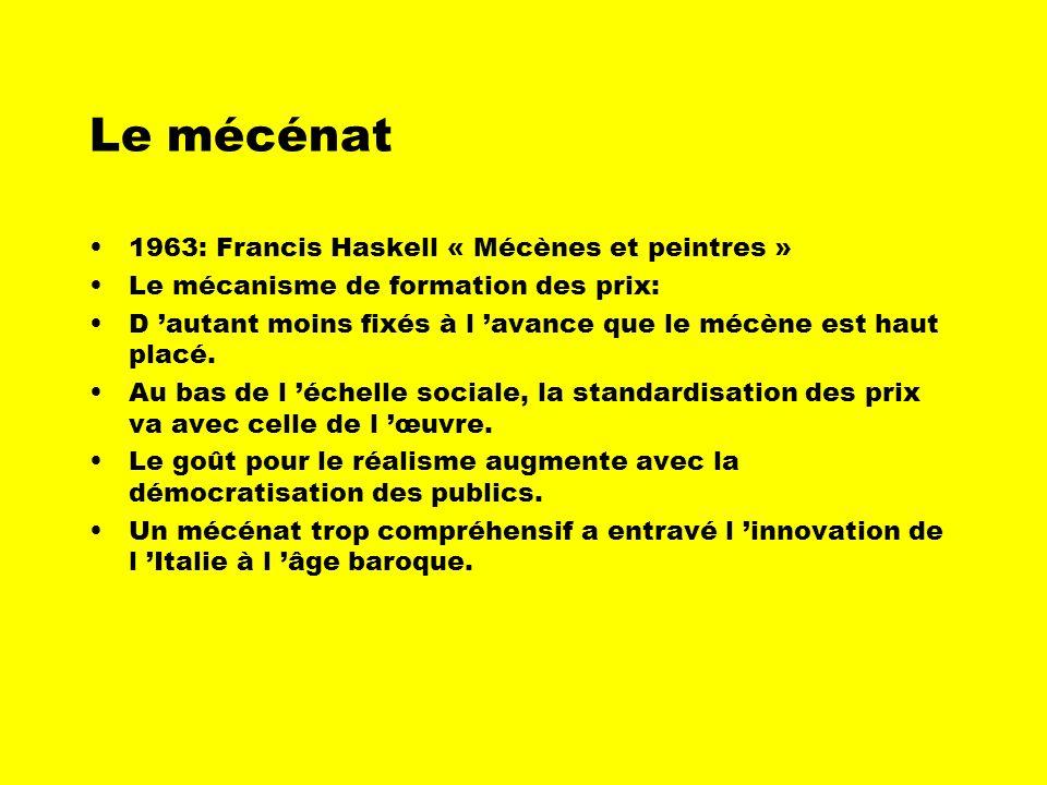 Le mécénat 1963: Francis Haskell « Mécènes et peintres »