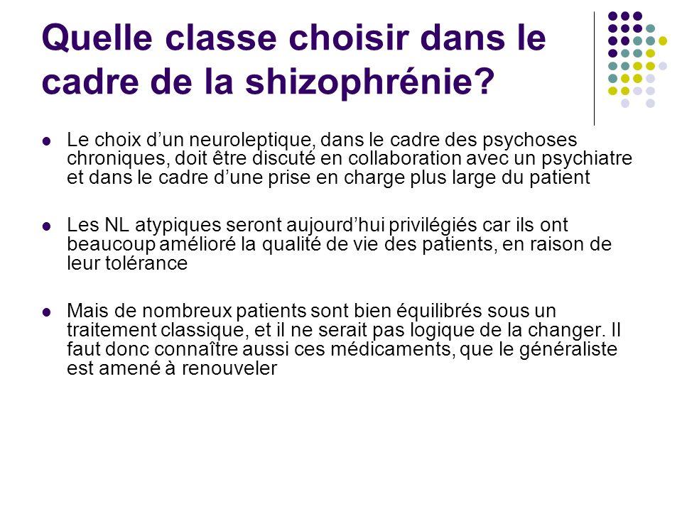 Quelle classe choisir dans le cadre de la shizophrénie