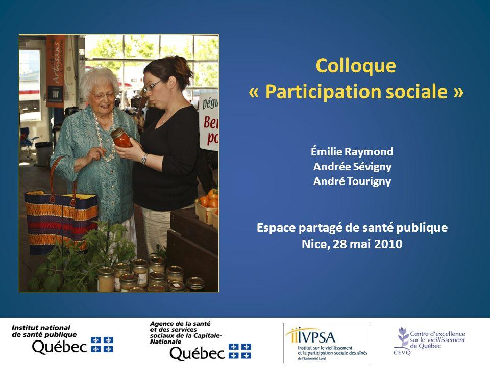 « Participation sociale » Espace partagé de santé publique