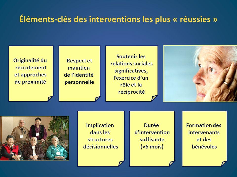 Éléments-clés des interventions les plus « réussies »