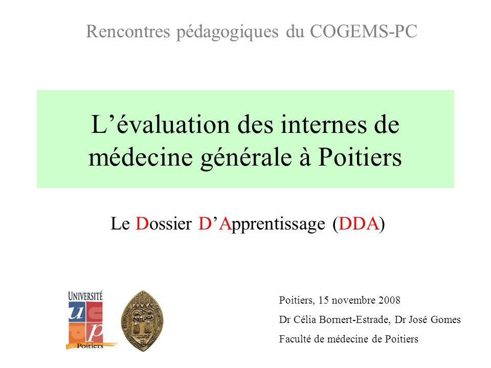 L'évaluation des internes de médecine générale à Poitiers