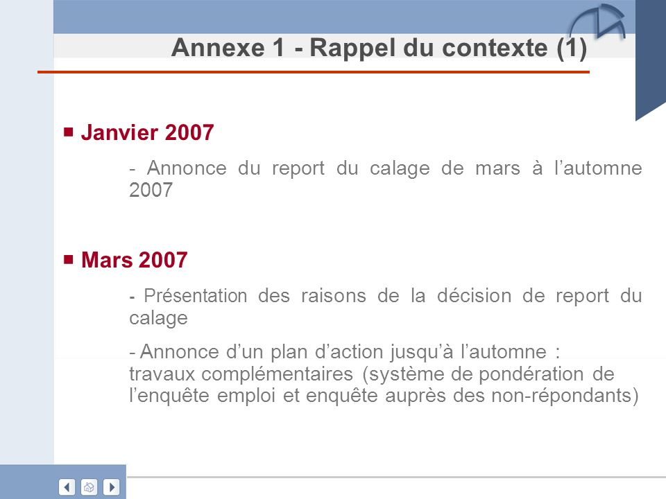 Annexe 1 - Rappel du contexte (1)