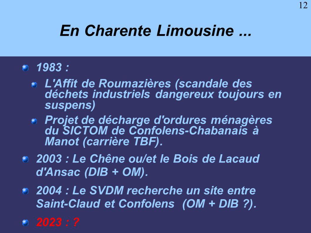 En Charente Limousine ... 1983 :