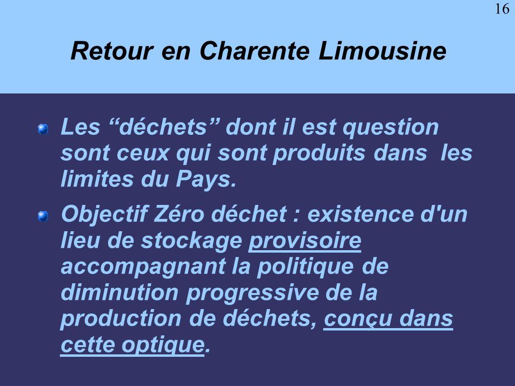 Retour en Charente Limousine