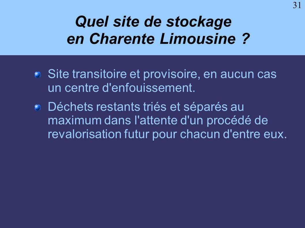 Quel site de stockage en Charente Limousine