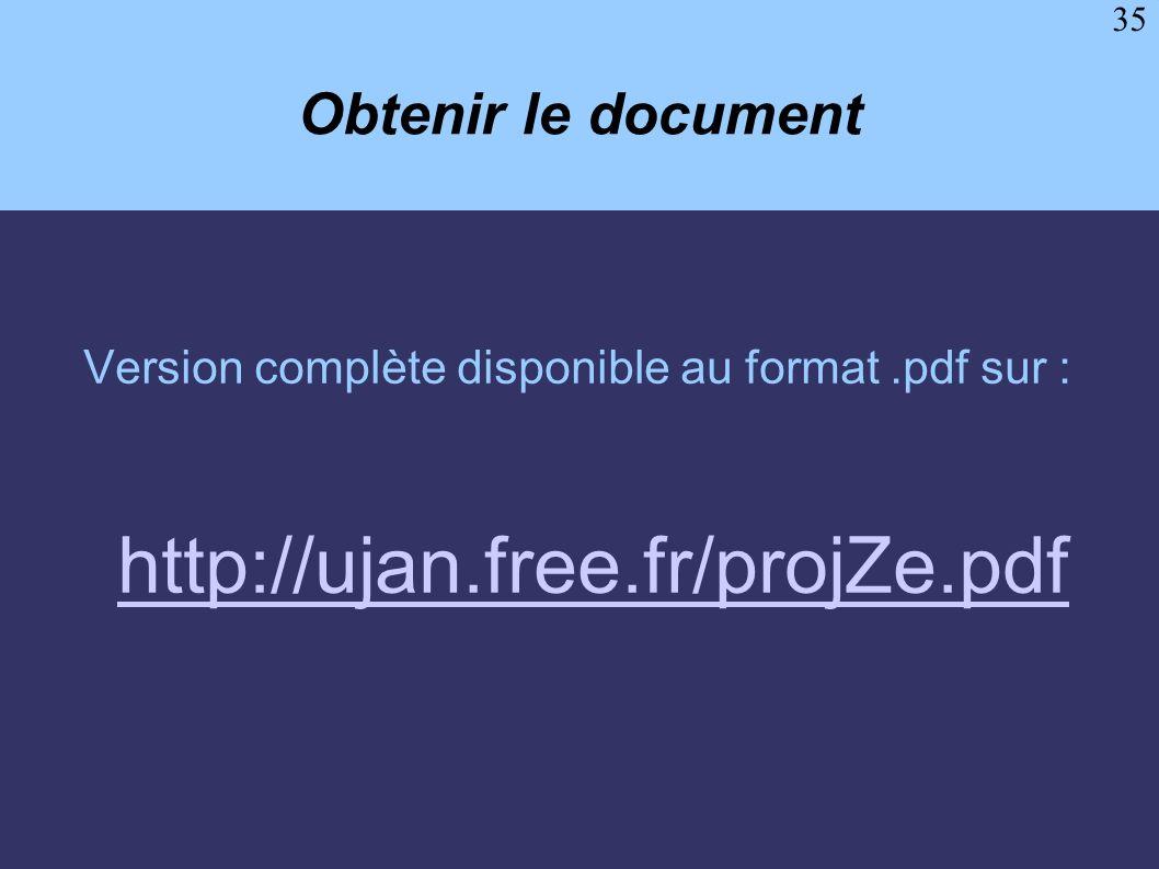 http://ujan.free.fr/projZe.pdf Obtenir le document