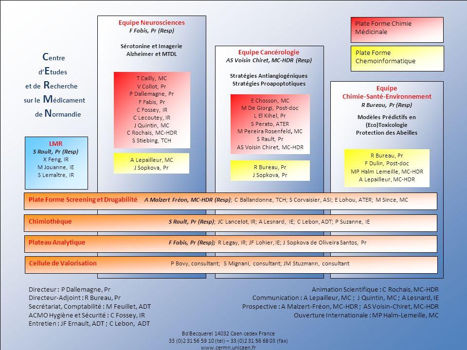 Centre Equipe Neurosciences Plate Forme Chimie Médicinale d'Etudes
