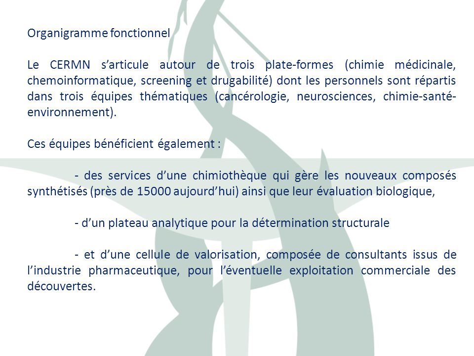 Organigramme fonctionnel