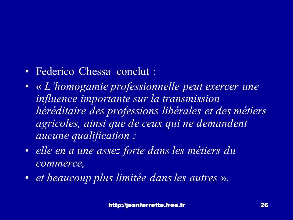 Federico Chessa conclut :
