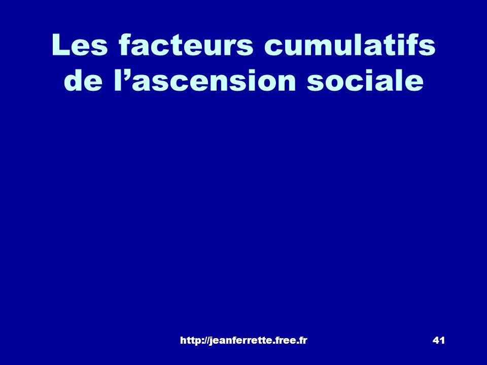 Les facteurs cumulatifs de l'ascension sociale