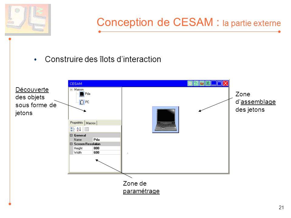 Conception de CESAM : la partie externe