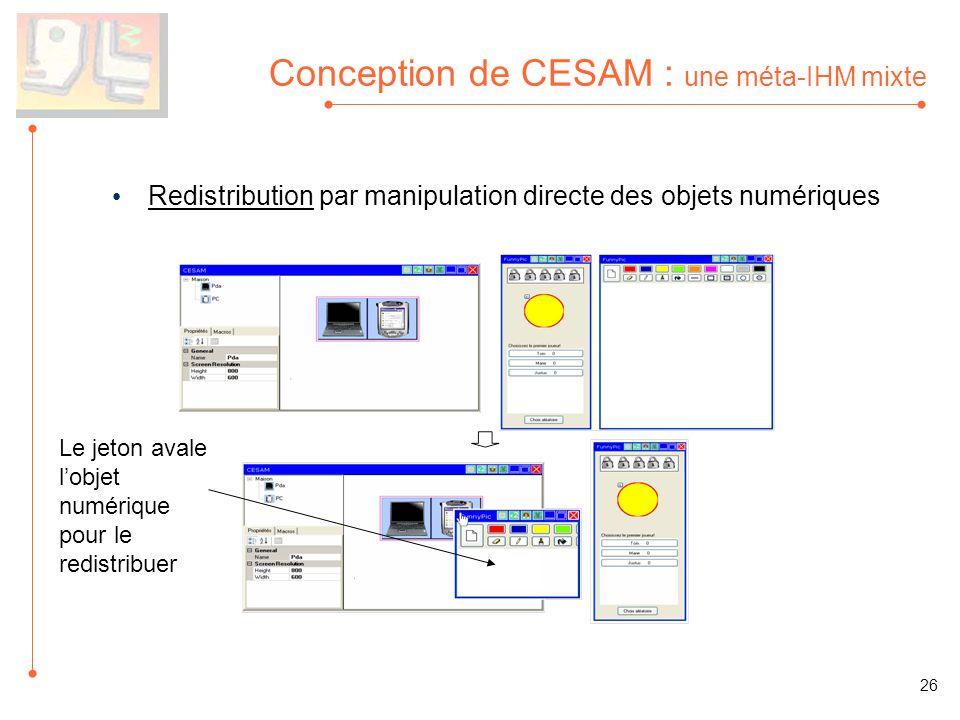 Conception de CESAM : une méta-IHM mixte