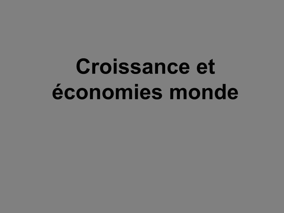 Croissance et économies monde